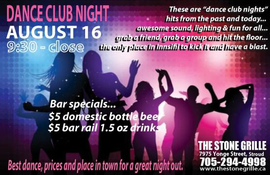 dance club aug 16 full poster