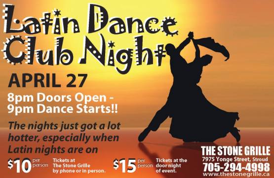 latin dancing april 27 full poster